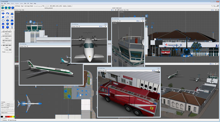 AC3D 3D design software - screenshot